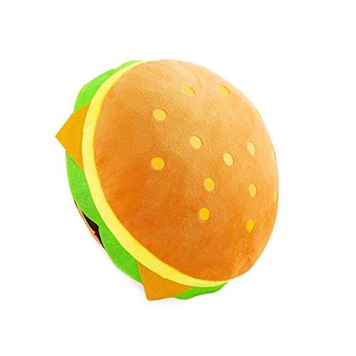Sguan-wu simulazione hamburger peluche ripieno giocattolo cuscino posteriore cuscino divano letto decor 30cm