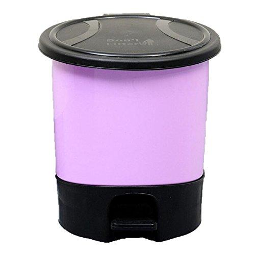 Jia Qing Pedale In Plastica Con Coperchio Camera Da Letto Camera Da Letto Soggiorno Trash Bagno Ufficio Cucina Trash,Yellow Purple