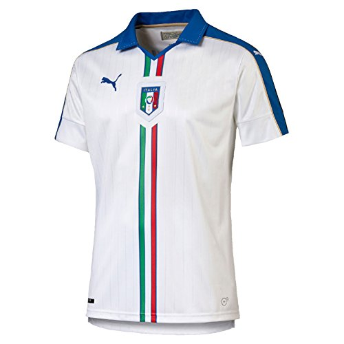 PUMA Herren Trikot FIGC Italia Away Shirt Replica White, Team Power Blue, XL - Nationalmannschaft Italienische Trikot