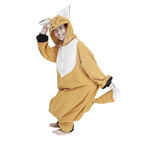 Honeystore Unisex Polar Fleece Tier Jumpsuit Kostüm Siamesische Kleidung Fuchs Pyjamas Cosplay (Disco Mens Jumpsuit)
