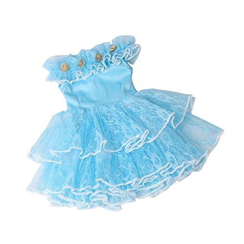 B Baosity Vêtement de Poupée Robe de Tulle Costume Habits pour 18 Pouce Fille Américaine #1 - Bleu