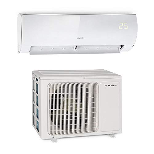 41PROKLAazL. SS500  - KLARSTEIN Windwaker Eco Split Air Conditioner - 9,000 BTU/h (2637 W), Airflow: 610 m³ / h, Heating/Cooling, Self-Cleaning, Energy Efficiency: A ++ / A +, 5 Modes, 3 Sleep Modes, Timer