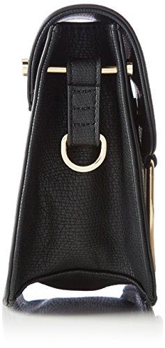 Liu Jo Damen Maincy Flap Umhängetasche, 9x17x22 cm Schwarz (Black)