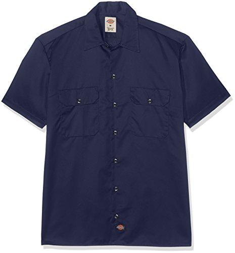 Dickies Herren Regular Fit Freizeit Hemd Shrt/S Work Shirt, Kurzarm, Blau (Navy Blue NV), Gr. XXX-Large (Herstellergröße: 3XL)