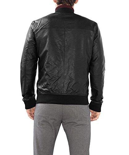 ESPRIT Herren Jacke mit Wendemöglichkeit Schwarz (Black 001)