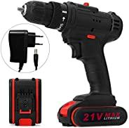 walmeck- 21V Multifunctional Electric Impact Cordless Drill High-power Lithium Battery Wireless Rechargeable H