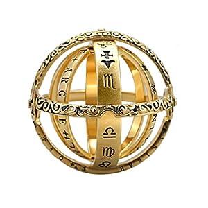 Damen Ring,Öffnender Ring Astronomical Globe Ring Vintage Wissenschaft Schmuck,Überraschungsgeschenk für Freundinnen Mütte Kette Schmuck Jewelry Anhänger Halskette Kette Anhänger