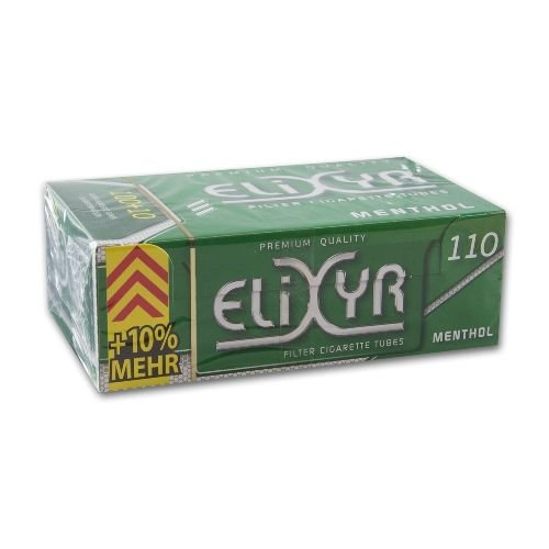 Zigarettenhülsen Elixyr King Size Menthol 110 Stück