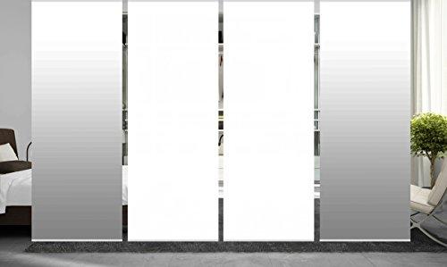 wohnfuehlidee 4er Set Raumteiler Deko blickdicht MAREIKE grau, Höhe 245 cm, 2x Farbverlauf/2x weiß -
