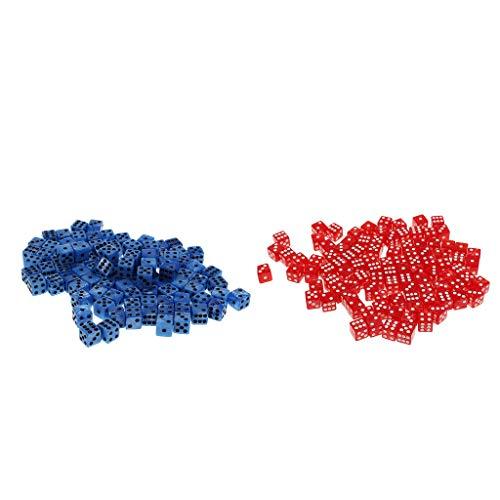 sharprepublic 200 Stücke D6 Dot Dice 14mm Für Brettspiele Aktivität Casino Thema Party Spiele