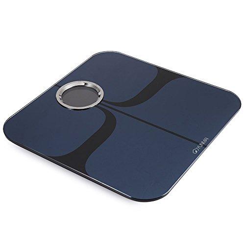 YUNMAI Bilancia Pesapersone Body Fat Analisi Corpo Scala 8 Dati Bluetooth Leggero per iOS Android Phone Nero