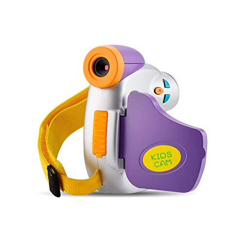Xwly-DC Kinder Kamera Pro DVC-7 CAM Kinder Digitale Videokamera mit ergonomischem Design Kinder Lernspielzeug für Jungen Mädchen Geburtstagsgeschenk