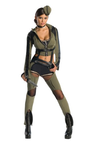 Sucker Punch Amber Kostüm Damen Damenkostüm Kampfoutfit Cosplay grün Gr. XS - L, (Blondie Kostüme)