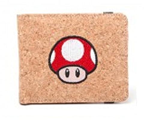 Nintendo Portefeuille Super Mario Mushroom Cork effect officiel Marron Bifold