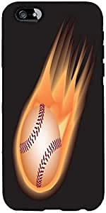 Snoogg baseball fire Hard Back Case Cover Shield For Apple Iphone 6 S / 6s