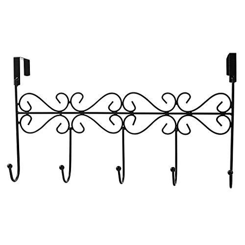 heliltd 1 Stück Über der Tür 5 Kleiderbügel Rack Dekorative Metall Kleiderbügel Halter für Kleidung Schmuck (Dekorative Kleiderbügel Tür)