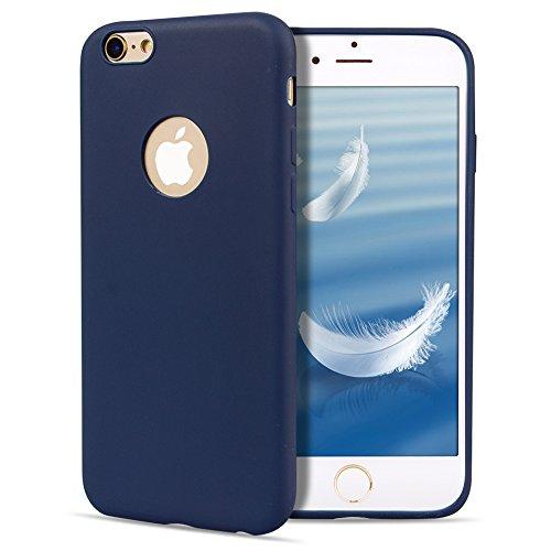 Apple iPhone 6S 6 Hülle Case,Crystal Clear Handyhülle Cover Soft Premium-TPU Durchsichtige Schutzhülle Backcover Slimcase für Apple iPhone 6S 6 Handycase,Handyschale,Schutzhülle-Blau