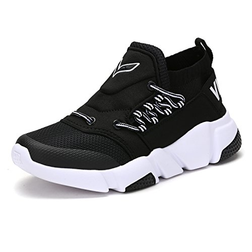 Kleinkinder Kinder Schuhe (VITIKE Jungen Mädchen Mesh Sneaker Outdoor Athletic Unterhose auf Beiläufig Laufen Schuhe (Kleinkind/Kleines Kind/Großes Kind-Schwarz-EU33))