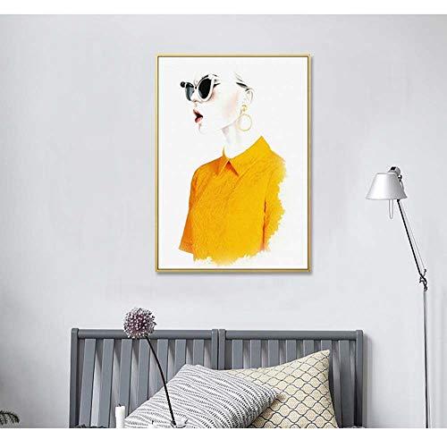 Hohe Qualität Sonnenbrille Frauen Bekleidungsgeschäft Dekorative Malerei Frauen Shop Gemälde Modernen Minimalistischen Mode Hintergrund Wandmalerei Persönlichkeit Kreative Schönheitssalon Goldrahmen W