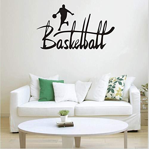 BARCN Wandaufkleber Basketball -Sport -Entfernbare Wand -Aufkleber -Raum -Wandtattoo Home Decor Vinyl Kunst Removable Wand -Aufkleber -Raum -Dekoration