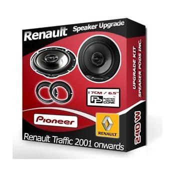 RENAULT TRAFIC avant de porte Haut-parleurs Pioneer Haut-parleurs de voiture + adaptateur gousses 240W