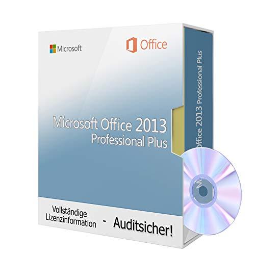 Microsoft® Office 2013 Professional Plus inkl. Tralion-DVD, inkl. Lizenzdokumente, Audit-Sicher (Office 2013 Key)