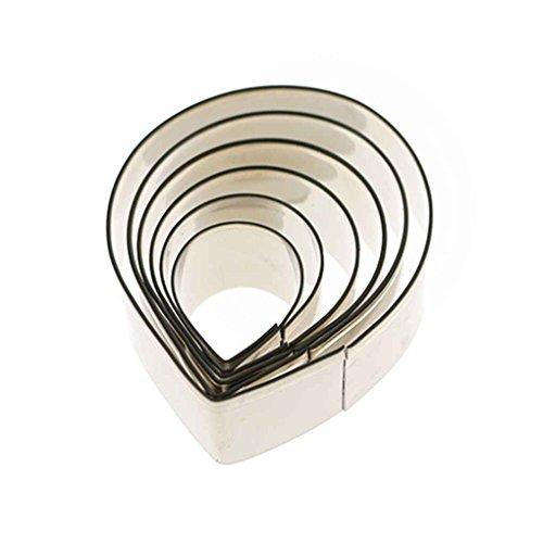 meisijia 6 stücke Rose Petals Edelstahl Cutter Set für Kuchen Dekorieren Tools - Petal Rose Cutter