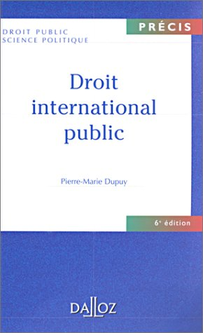 Droit international public, 6e édition
