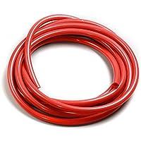 """NUJA 1pc Silicona Tubo de vacío de 6 mm 1/4"""" Manguera/Manguera de Aire de vacío/Línea/Tubo/Tubo Azul 5Meter (Color : Red ID 3mm)"""