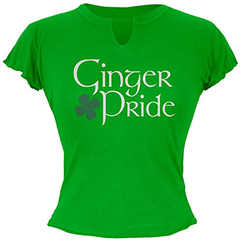 Old Glory St. Patricks Tag Ginger Pride Junioren Raw Edge T-Shirt Green SM (Tag Design-junioren Tee)