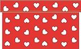 Sovie Home Tischläufer LOVE/ Linclass® Airlaid Tischläufer 40cm x 4,80m / Tischdecken-Rolle stoffähnlich / Einmal-Tischdecke für Hochzeit & Partys / Rot