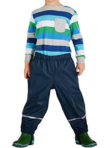 Hippolo Kinder im Freien Wasserdicht Anti-kalten Ski Gürtel Hosen Plus Kaschmir Hose PU Leder (110/116, Tiefblau) Kaltem Getriebe