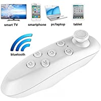 VR Remote Control Bluetooth Wireless Mini Portable Remote Controller with Controller Selfie ,Wireless Mouse,Video, Music, Mouse, Ebook for iOS Android Smartphones Tablets PC