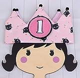 Couronne de fête d'enfants, couronne d'anniversaire, Premier anniversaire fille tenue, Chapeau d'anniversaire,