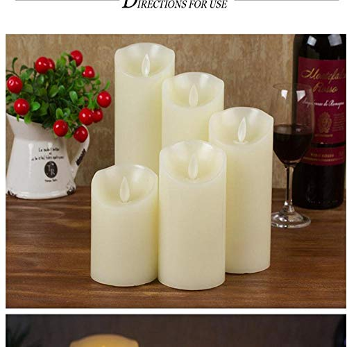 wangZJ Led altalena a lume di candela elettronico/fiamma altalena paraffina/decorazione di cerimonia nuziale domestica / 3 pezzi/lucido 7.5 cm * 15 cm
