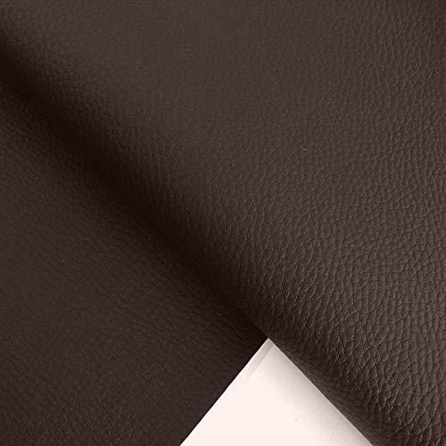 TOLKO Kunstleder Polsterstoff Meterware als Robuster Premium Bezugstoff/Möbelstoff zum Polstern und Beziehen, 140cm Breit (Braun)