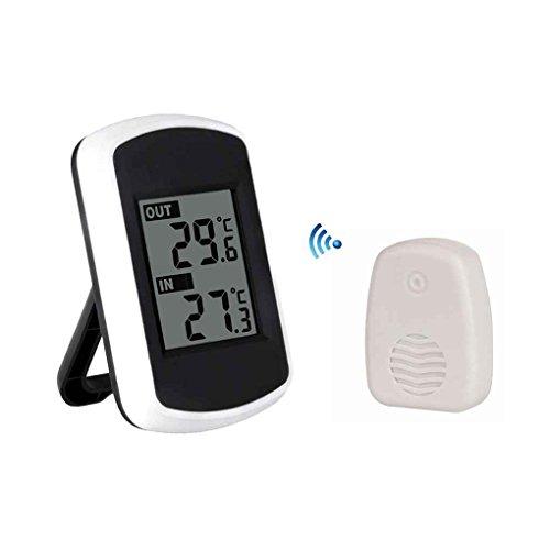 Preisvergleich Produktbild Timlatte Digital Wireless Thermometer Fern Innen Außen Temperaturanzeige Receiver Transmitter Home Office Verwenden