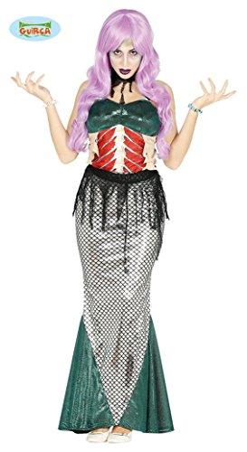 Zombie Meerjungfrau für Damen Gr. XS - L, (Zombie Meerjungfrau Kostüme)