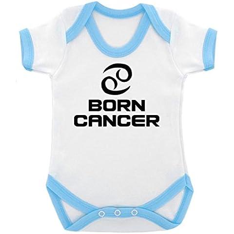 Data di nascita: segno zodiacale, Cancro-Body con con cuciture a contrasto, colore: blu e Nero