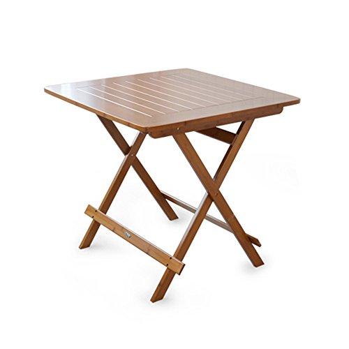 Table pliante réglable Table carrée/Bureaux extérieurs de Livre/Table / Table Se Pliante portative portative pour la Table Basse d'usage Domestique Peut être tourné (Taille : 80 * 80 * 76CM)