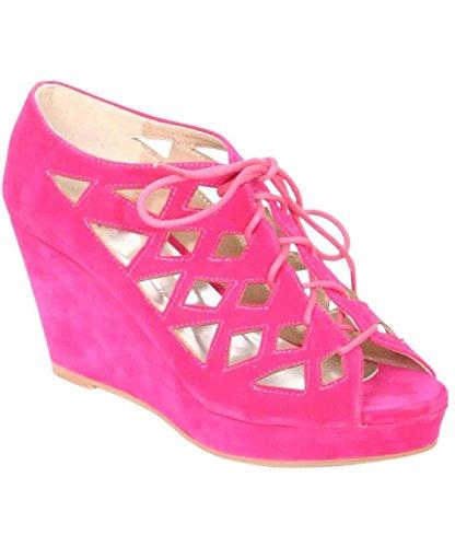 chaussures en cales treillis PILOT® de Rose anya rose lacets XvxOYx