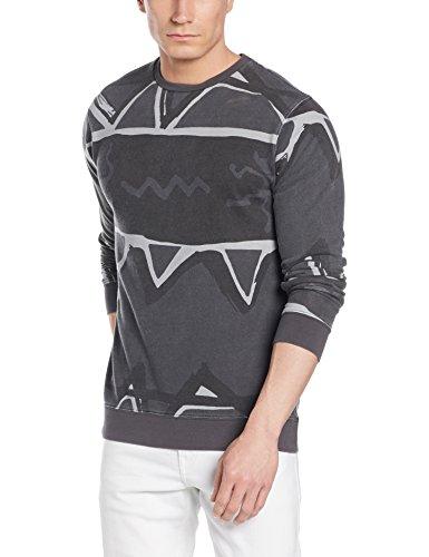 Herren Sweater Quiksilver Ghetto Fleece Sweater Black
