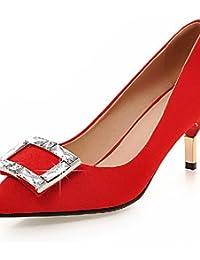 Zq-tac¨®n Chaussures Pour Femmes Robustes Talons Talons-bureau Et Le Travail / Robe / Casual-microfibre-rose / Blanc / Gris / Beige, Blanc-us9.5-10 / Eu41 / Uk7.5-8 / Cn42 , Blanc-us9.5-10 / Eu41 / Uk7.5