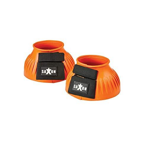 Saxon Rippen Hufglocken mit Klettverschluss (Cob) (Orange)