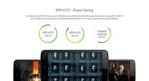 HOMTOM HT17 PRO - Android 6 0 4G Smartphone 2GB de RAM   16 GB  5 5 pulgadas de alta definici  n de 13 MP reconocimiento de huellas digitales de 64 bi