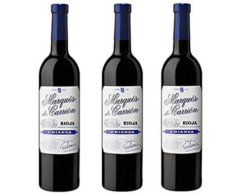 Marqués de Carrión Crianza D.O Rioja Vino Tinto - 3 Botellas x 750 ml - Total : 2250 ml