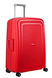 SAMSONITE S'Cure Spinner 69/25 Koffer, 69 cm, 79 L, Capri Red/Navy Blue