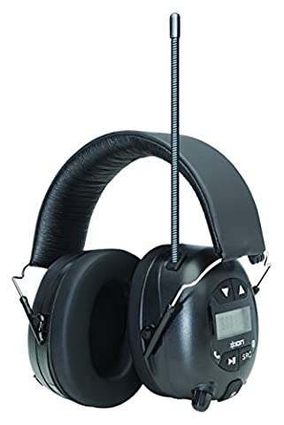 ION Audio Tough Sounds Industrial Bluetooth Noise Reduction Headphones with Hands-Free Calling and FM/AM Radio