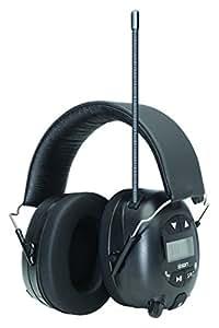 ION Audio Tough Sounds   Casque audio protecteur avec atténuation active du bruit, Bluetooth et radio AM/FM et microphone integré