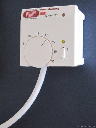 Magma Infrarotheizung 400Watt (Granit grau-weiß) Stand-Variante mit Steckdosenregler - 3